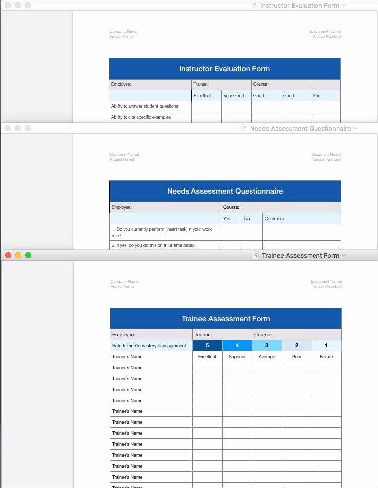 Training Course Design Template Beautiful Training Plan Template Apple Iwork Pages and Numbers