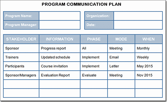 Training Course Design Template Fresh Project Munication Plan Template Google Search