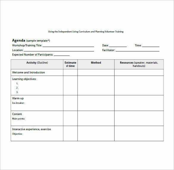 Training Course Design Template Fresh Training Agenda Template – 8 Free Word Excel Pdf format