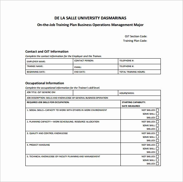 Training Course Design Template Lovely 25 Training Plan Templates Doc Pdf