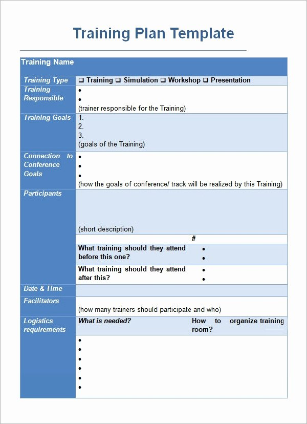Training Course Design Template Lovely Training Plan Template