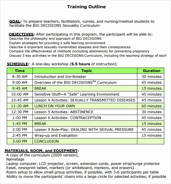 Training Course Design Template Unique Training Outline Template 7 Download Free Documents In