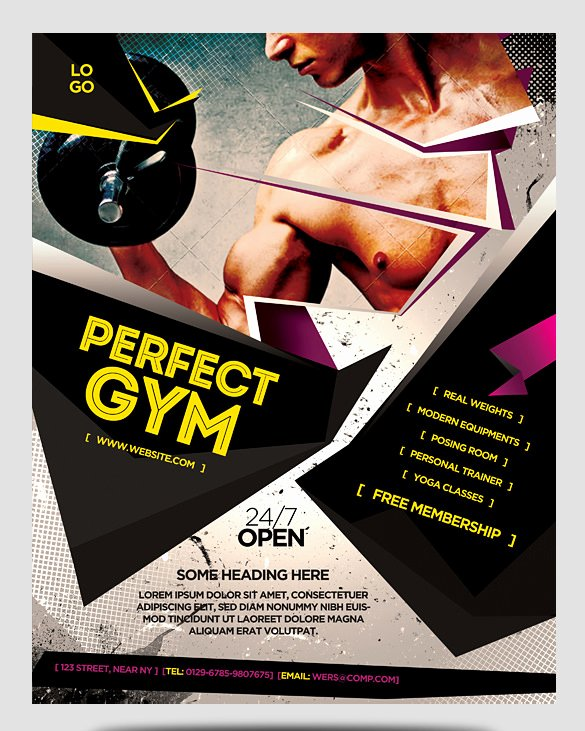 Training Flyer Template Free Awesome 36 Fitness Flyer Templates Word Psd Ai formats