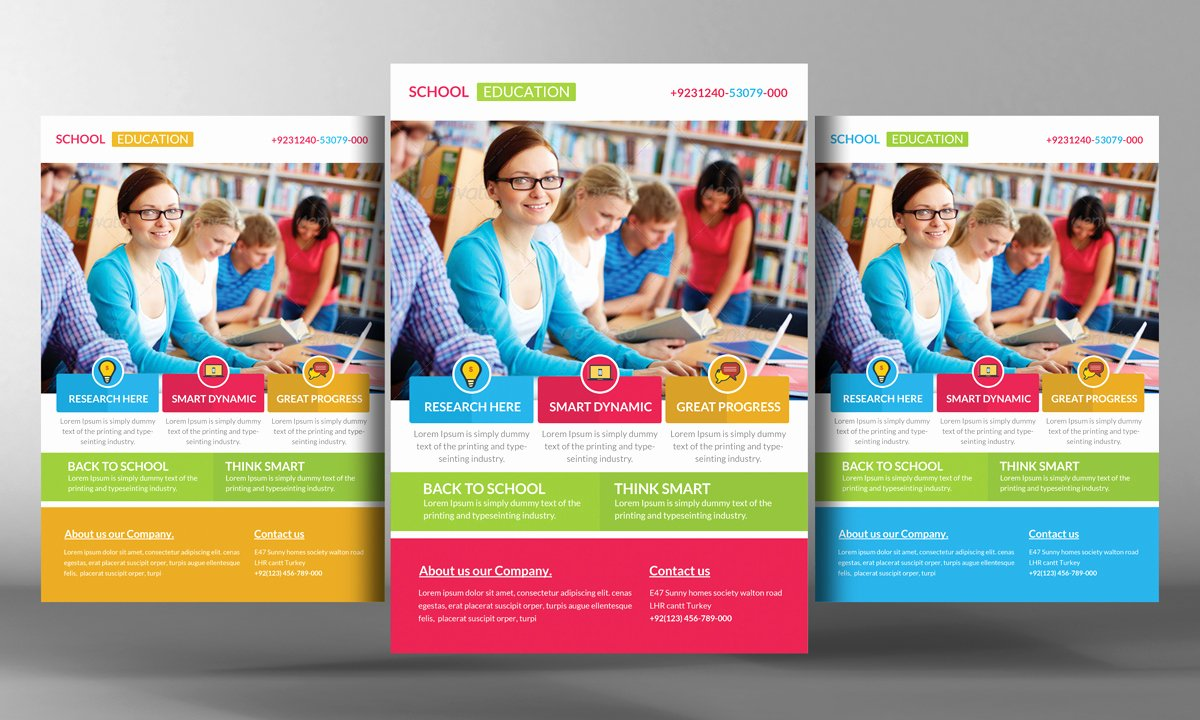 Training Flyer Template Free Awesome Education Flyer Psd Template