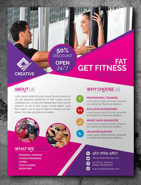 Training Flyer Template Free Awesome Free Fitness Gym Flyer Template Psd