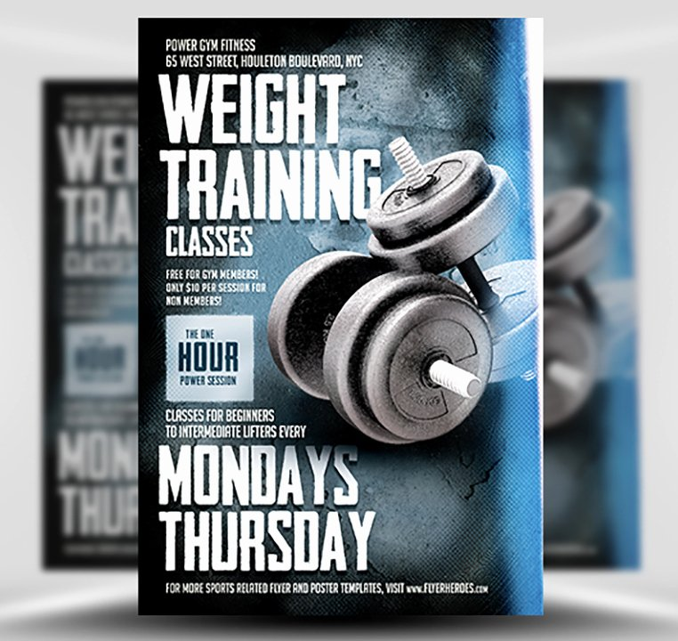 Training Flyer Template Free Fresh Weight Training Flyer Template Flyerheroes
