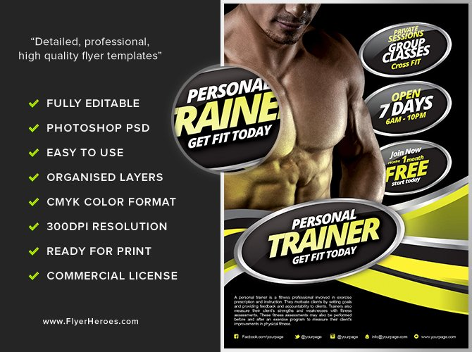 Training Flyer Template Free Inspirational Personal Fitness Flyer Template Flyerheroes