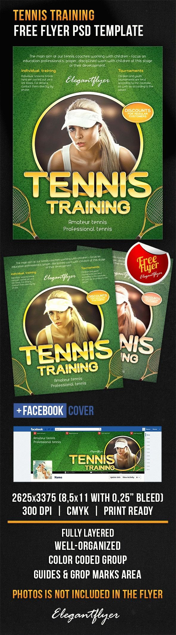 Training Flyer Template Free Lovely Tennis Training – Free Flyer Psd Template – by Elegantflyer