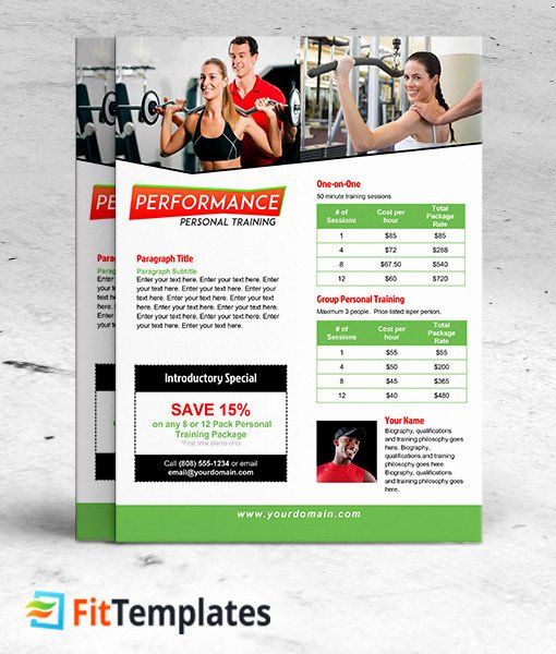 Training Flyer Template Free Luxury Personal Training Flyer Design Yourweek Eca25e