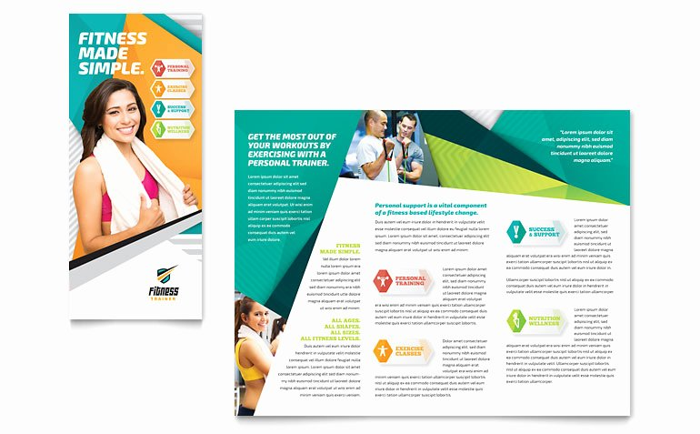 Training Flyer Template Free New Fitness Trainer Brochure Template Word & Publisher