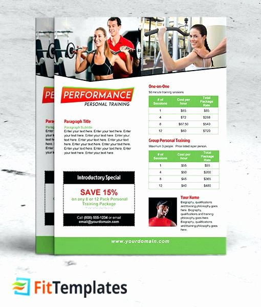 Training Flyer Template Free Unique Personal Trainer Flyer Ideas Fitness Flyer Template Free