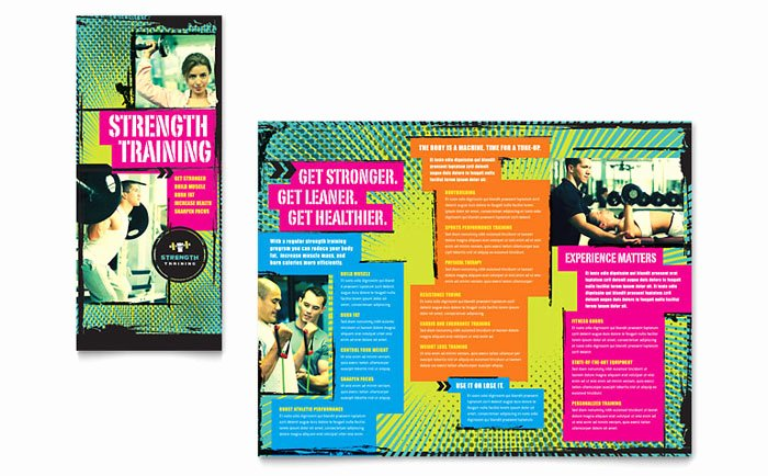 Training Flyer Template Free Unique Strength Training Tri Fold Brochure Template Design