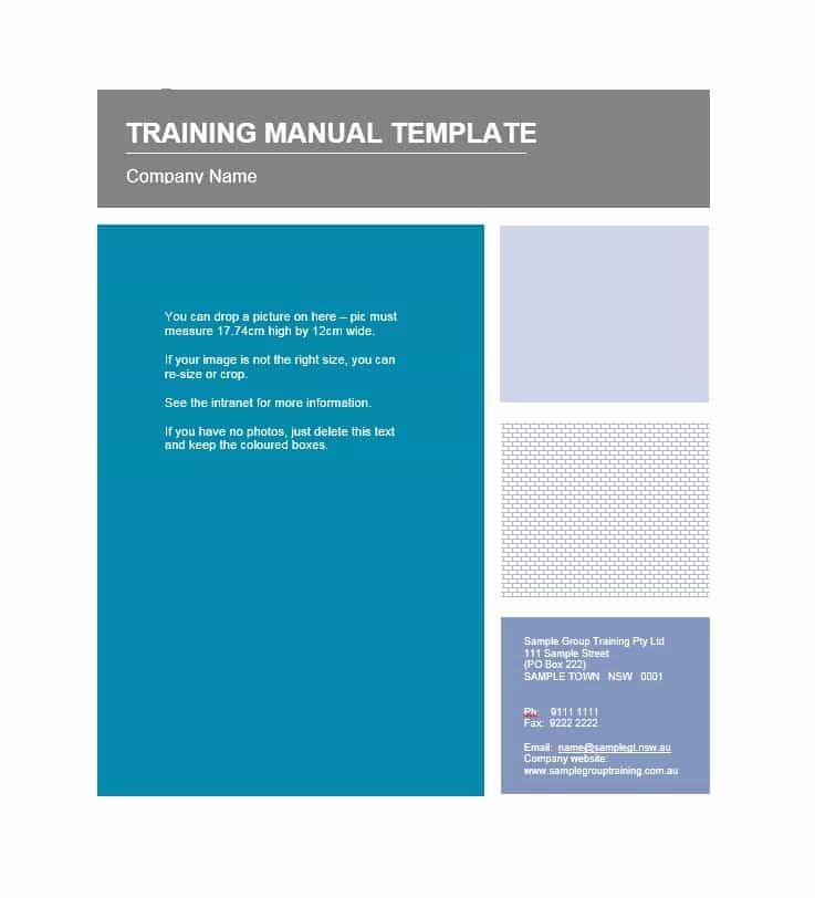 Training Manual Template Microsoft Word Awesome Training Manual 40 Free Templates & Examples In Ms Word