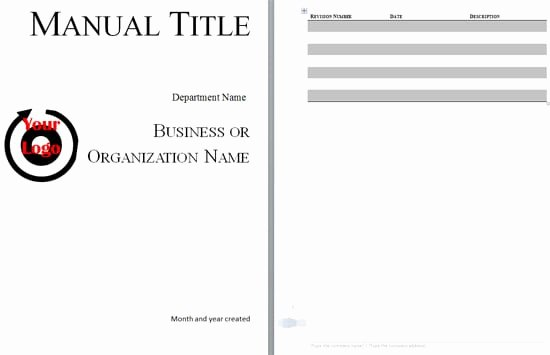 Training Manual Template Microsoft Word Inspirational 5 Free Training Manual Templates Excel Pdf formats