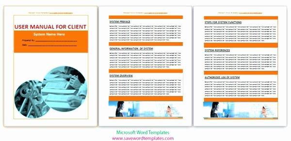 Training Manual Template Microsoft Word Inspirational User Word Training Manual Ms 2016 Instruction Template