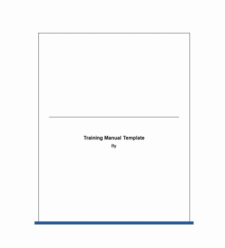 Training Manual Template Microsoft Word Lovely Training Manual 40 Free Templates & Examples In Ms Word