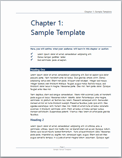 Training Manual Template Microsoft Word Unique User Manual Template Microsoft Word Templates