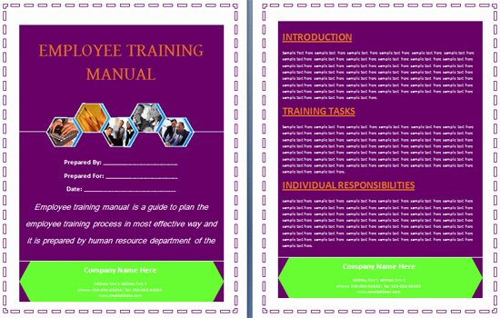 Training Manual Template Word Beautiful Boring Work Made Easy Free Templates for Creating Manuals