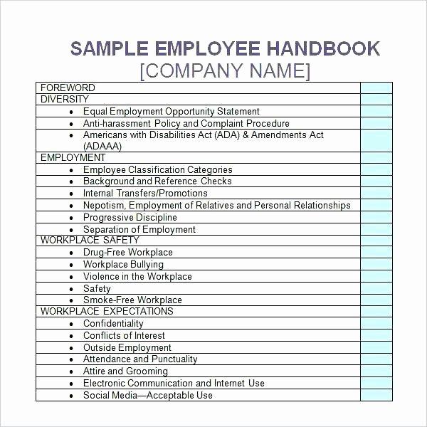 Training Manual Template Word Beautiful Training Handbook Examples Employee Handbook Template