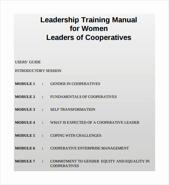 Training Manual Template Word Best Of 9 Sample Training Manual Templates
