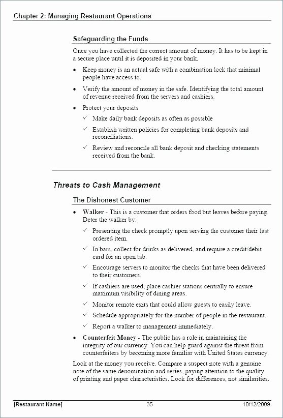 Training Manual Template Word Fresh Procedure Manual Template Examples Policy and Sample Hr