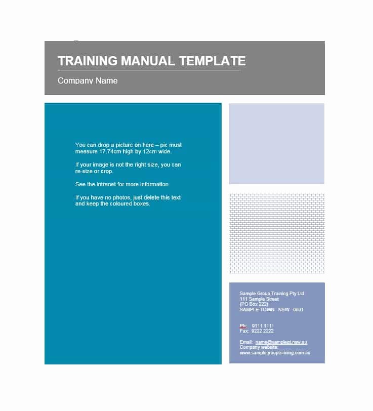 Training Manual Template Word Luxury Training Manual 40 Free Templates & Examples In Ms Word