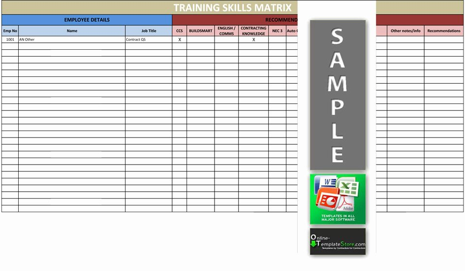 Training Matrix Template Free Excel Lovely Human Resources Templates
