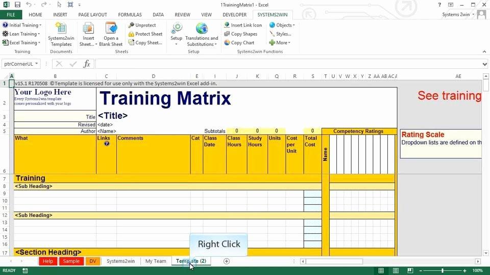 Training Matrix Template Free Excel Unique Cross Training Matrix Excel Template Free