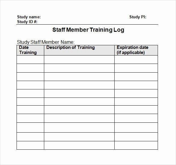 Training New Employees Template Inspirational 28 Log Templates