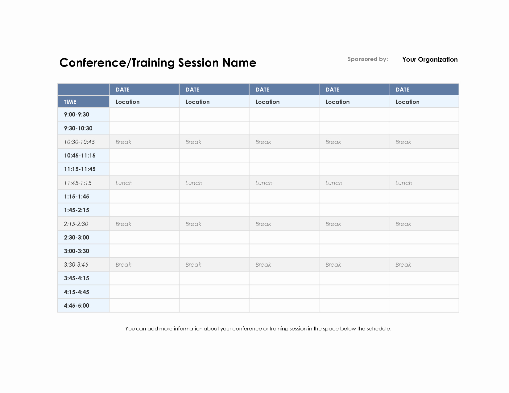 Training Plan Template Excel Inspirational Training Schedule Template Excel