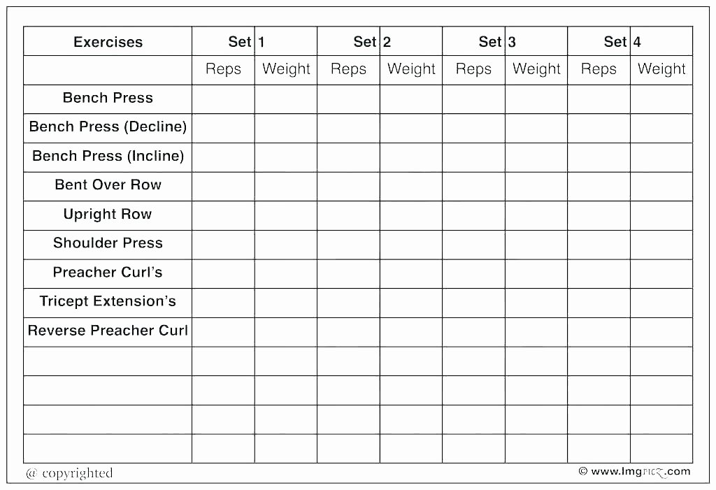 Training Schedule Template Excel Inspirational Excel Gym Workout Templates