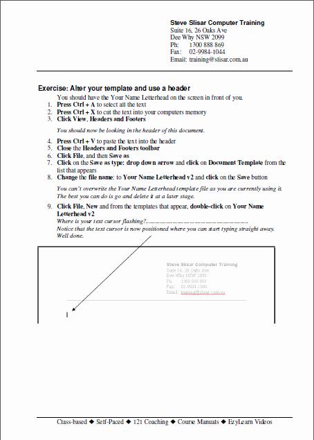 Training Workbook Template Word Elegant Microsoft Word Training Courses 9 Courses 9 Workbooks