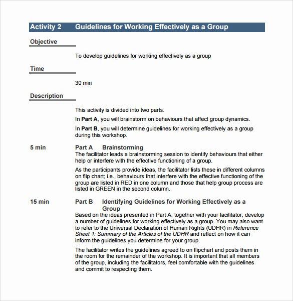 Training Workbook Template Word Lovely 11 Training Manual Samples – Pdf