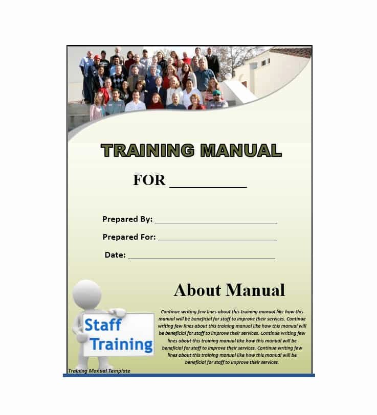 Training Workbook Template Word Lovely Training Manual 40 Free Templates & Examples In Ms Word