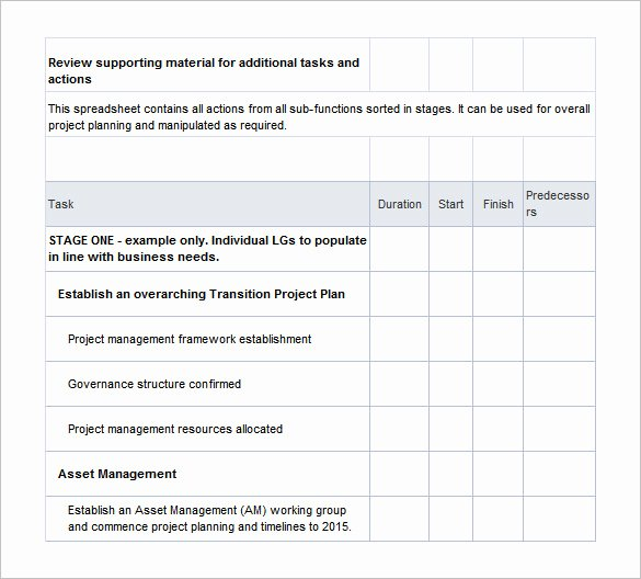 Transition Management Plan Template Best Of Transition Plan Template