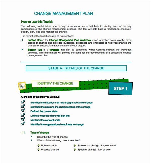 Transition Management Plan Template Elegant 12 Change Management Plan Templates