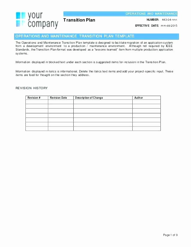 Transition Management Plan Template Elegant Printable Transition Plan Template Out Sample Excel