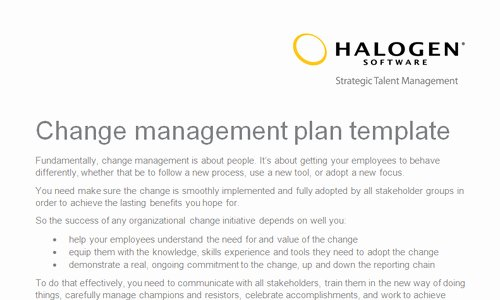 Transition Management Plan Template Inspirational Change Management Plan Template Uk