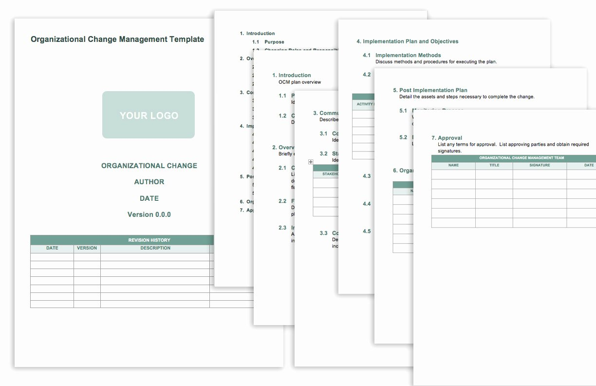 Transition Management Plan Template Luxury Free Change Management Templates