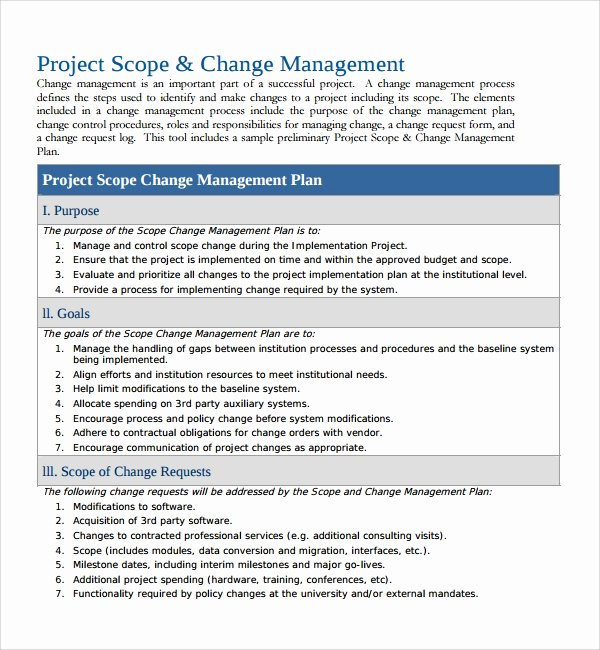 Transition Management Plan Template Unique 12 Change Management Plan Templates