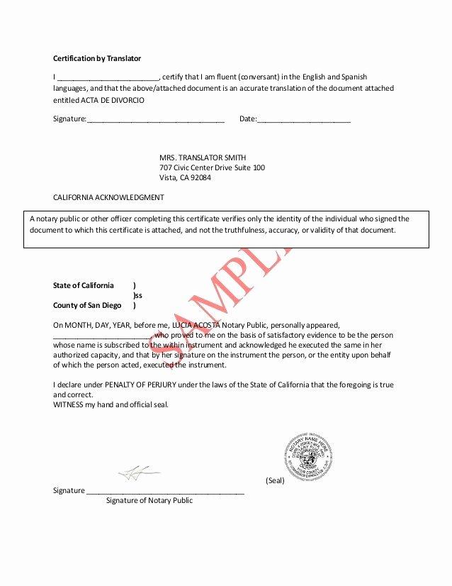 Translation Of Divorce Certificate Template Elegant Divorce Decree Template