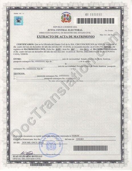 Translation Of Divorce Certificate Template Elegant Dominican Republic Birth Certificate Translation Template