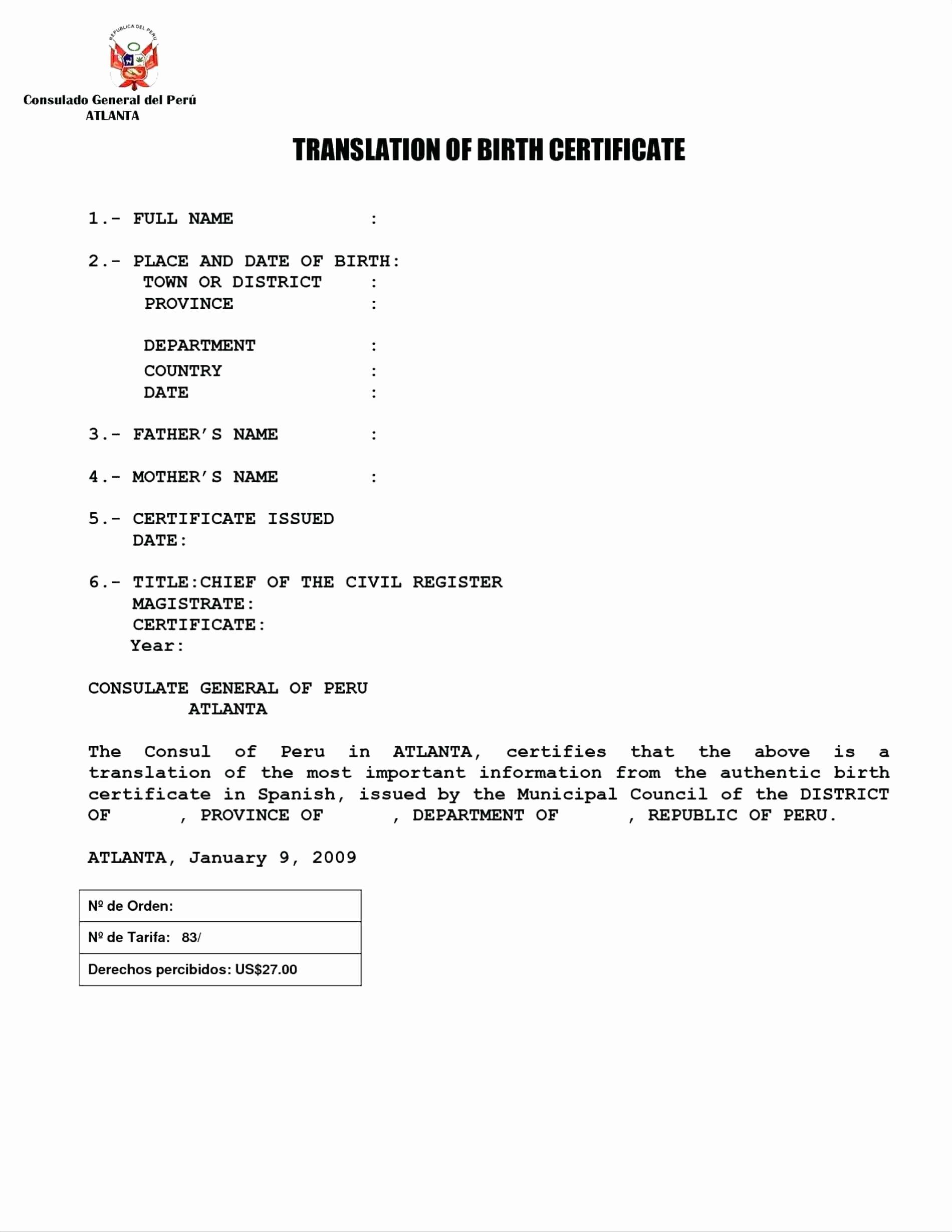 Translation Of Divorce Certificate Template Fresh Mexican Divorce Certificate Translation Template Sample