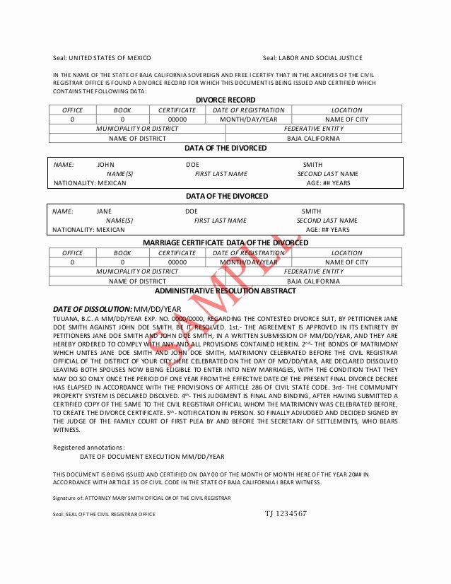 Translation Of Divorce Certificate Template Unique Divorce Decree Translation Pdf