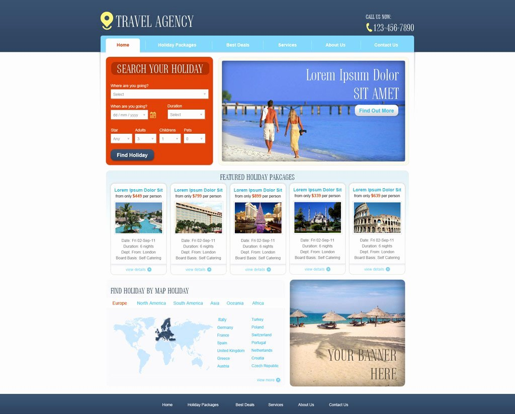 Travel Agency Web Template Awesome Free Travel Agency Website Template