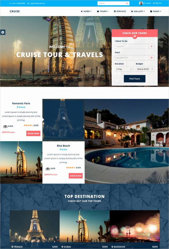 Travel Agency Web Template Beautiful Best Premium Travel Agency Templates top Free themes for