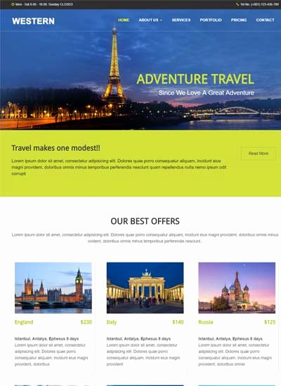 Travel Agency Web Template Best Of Free Responsive Bootstrap HTML Web Templates