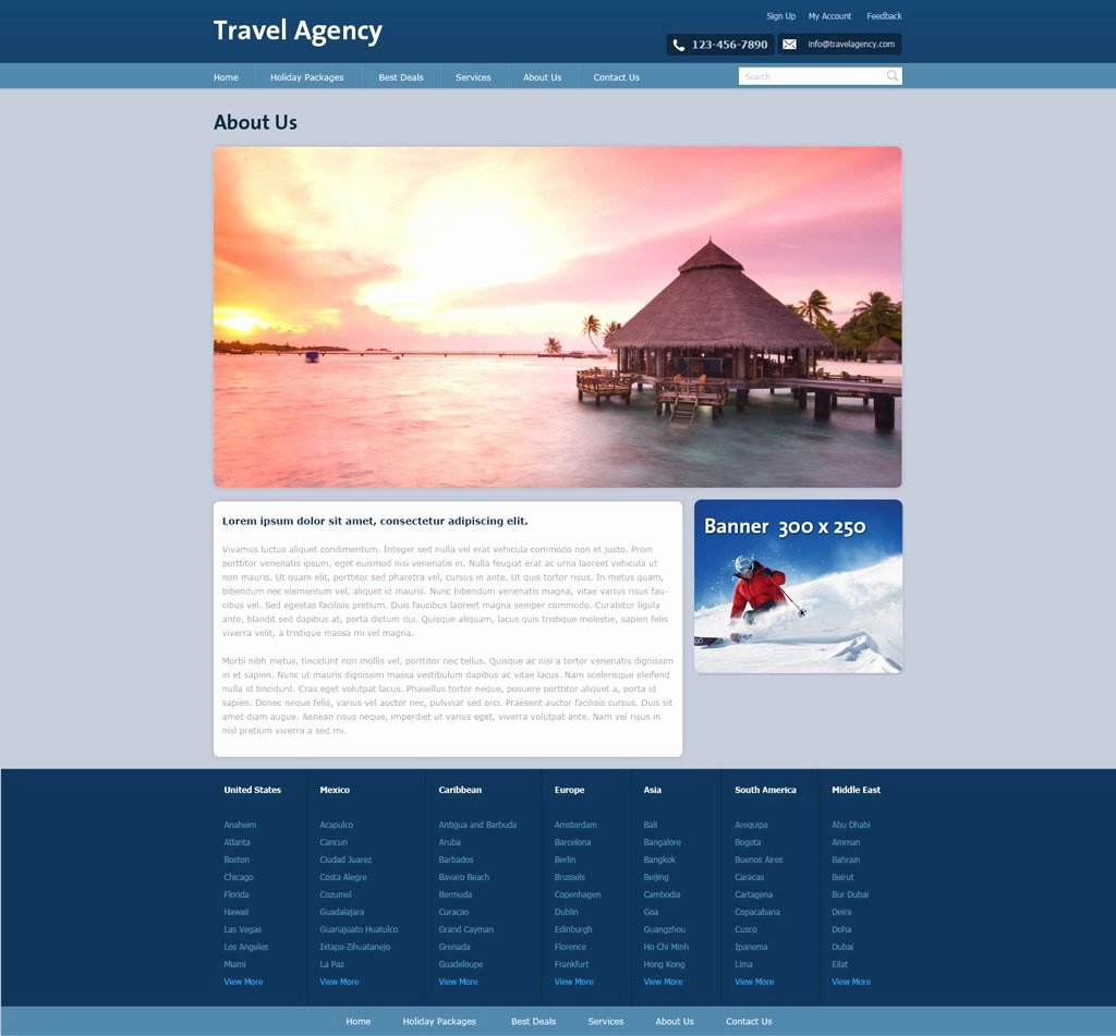 Travel Agency Web Template Best Of Free Travel Agency Website Template