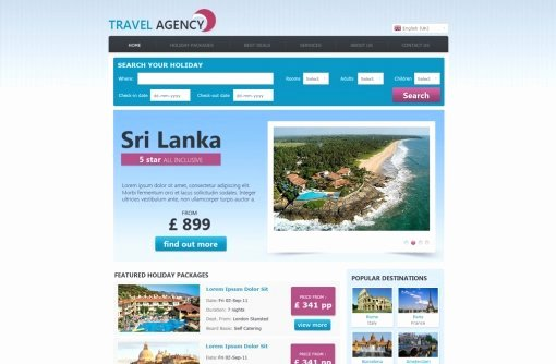Travel Agency Web Template Best Of Travel Website Template