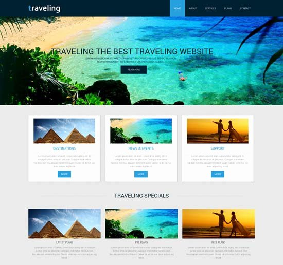 Travel Agency Web Template Elegant 55 Best Travel Website Templates Free & Premium